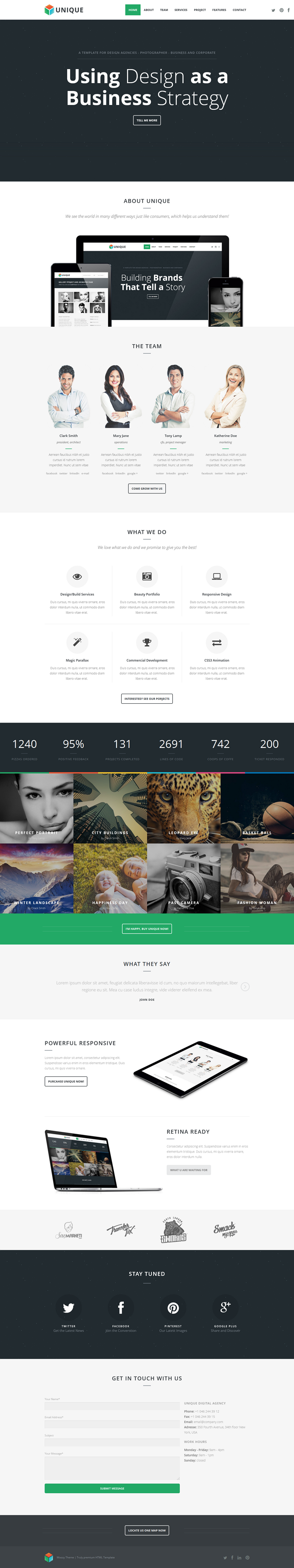 With Unique your personal or agency portfolio will really stand out! With its fullscreen photo s ...