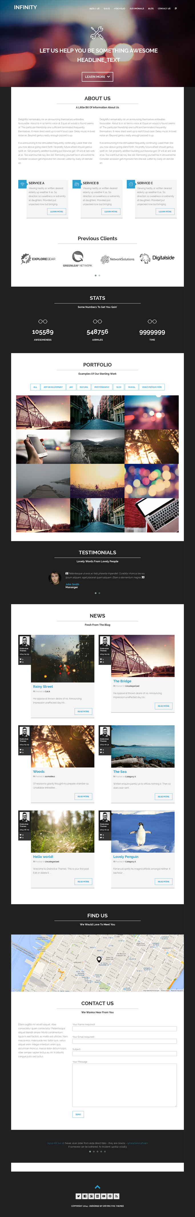 Infinity is a multipurpose WordPress template with a unique design and amazing features which wi ...