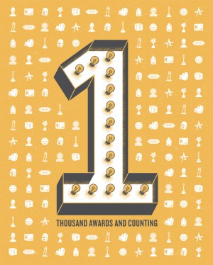 33. Over 1,000 Awards | GSD&M 40th Anniversary Poster Series