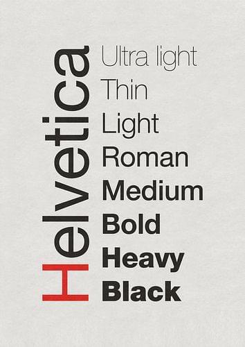 Helvetica Poster by J. Kleyn