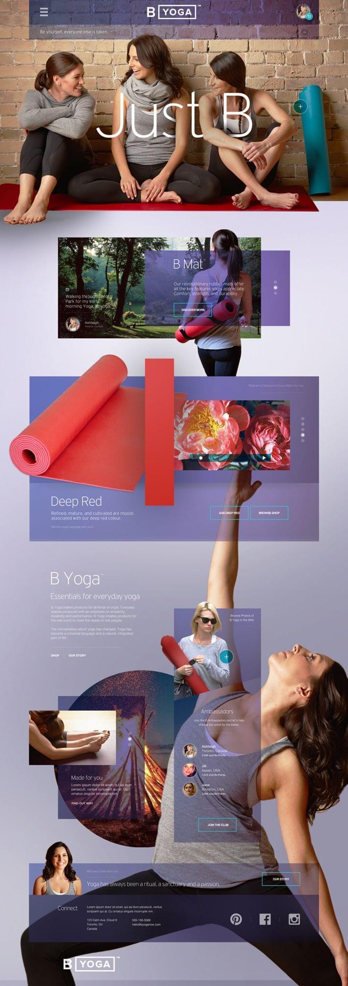 B Yoga Website : Post Launch Revisit v2 by John Speed
