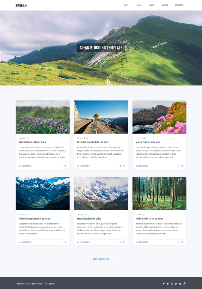 #webdesign #HTML5 #blog #bootstrap Clean and Responsive Blogging Theme  ->