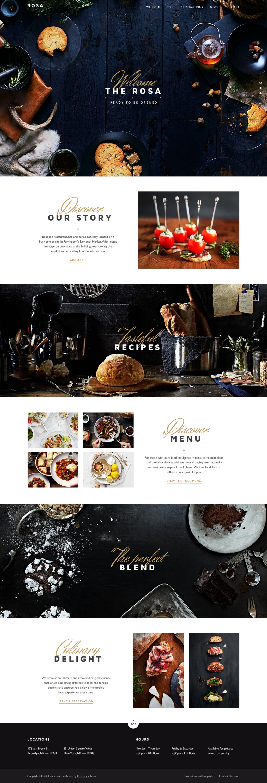Restaurant website by george olaru on inspirationde