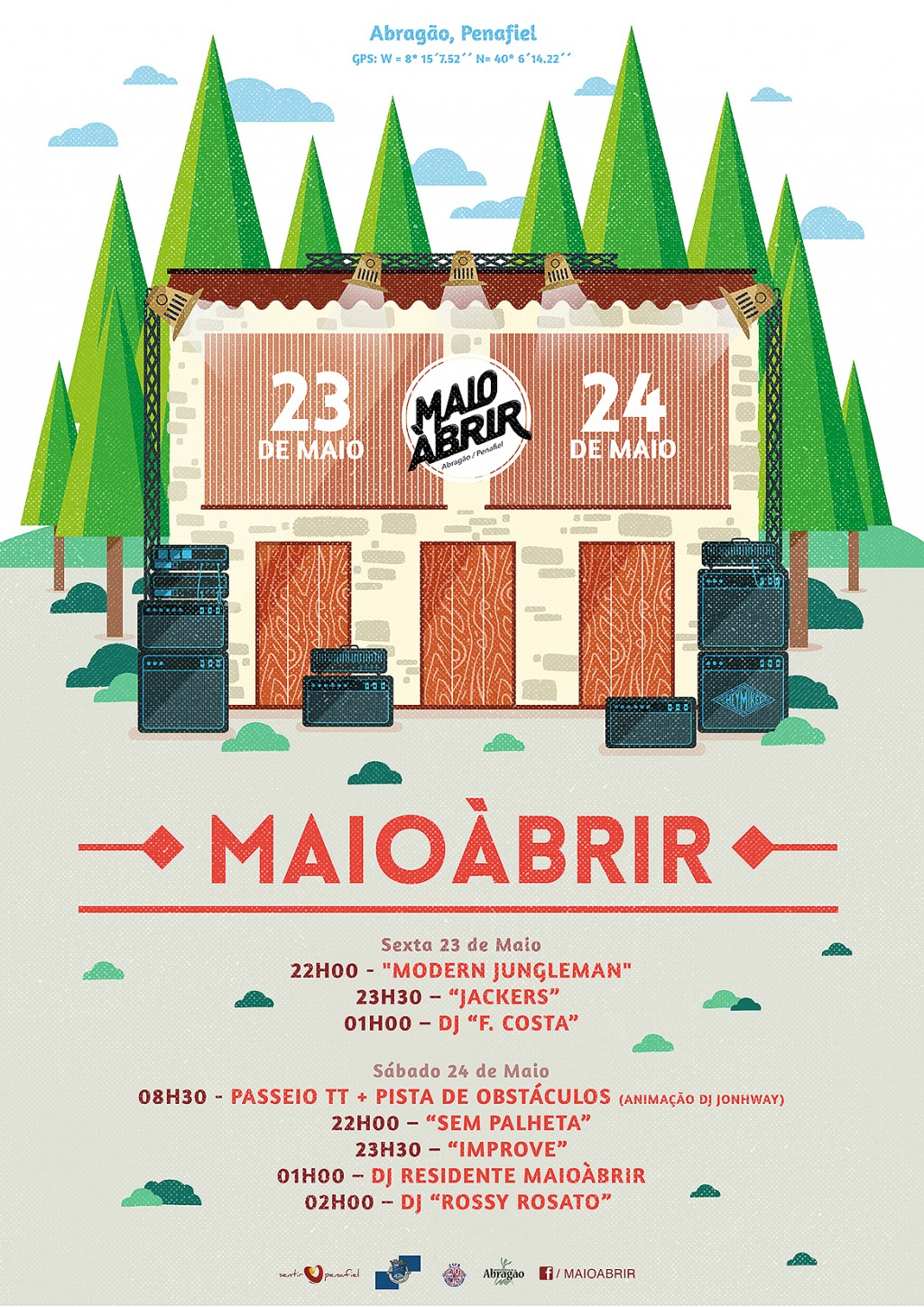 Visual communication for MaioÀbrir festival.