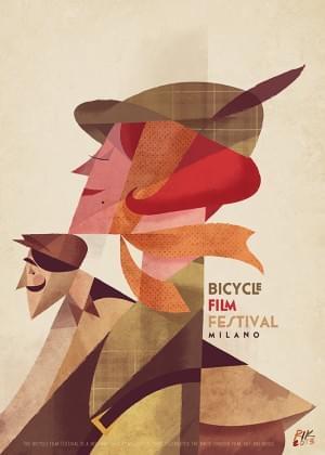 Bicycle Film Festival Milano poster by Riccardo Guasco.