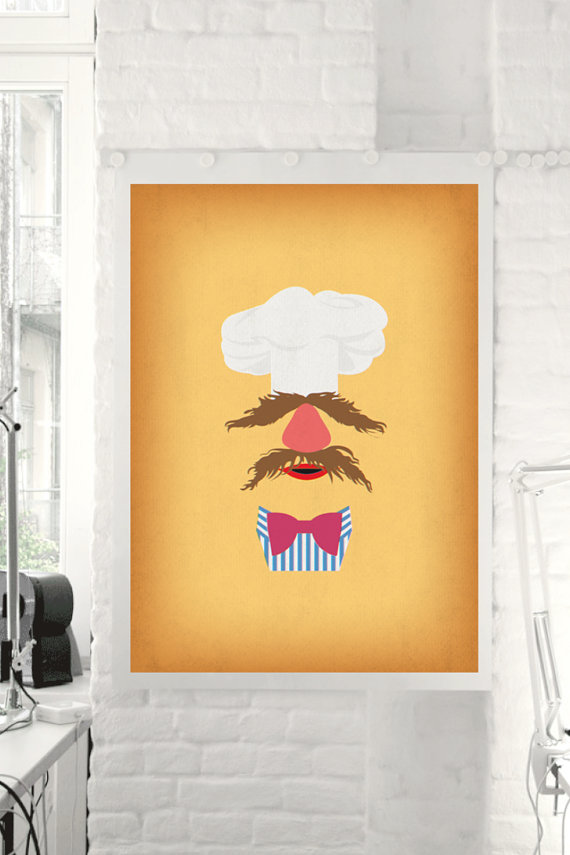 The Muppet Show Swedish Chef Minimalist Poster  by TheRetroInc