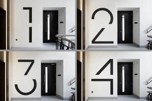 Bespoke floor numbers. Pic courtesy of Jack Hobhouse.