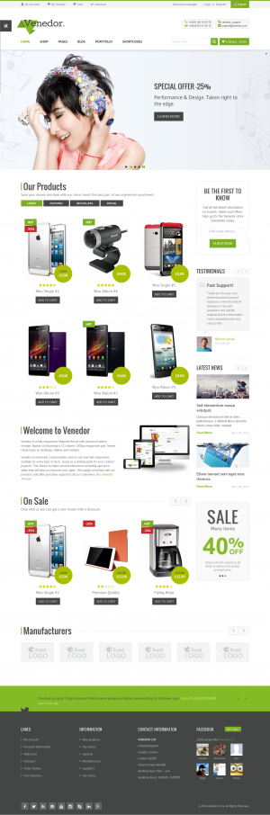 Venedor is Ultimate Multi-Purpose WordPress Theme that is extremely customizable, easy to use an ...