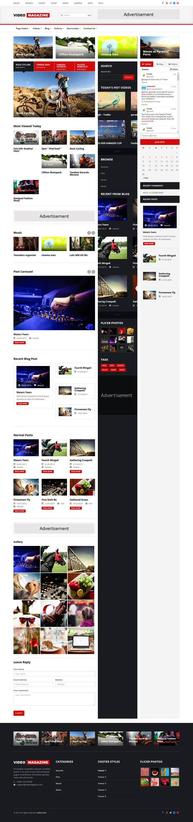 Video magazine is new energetic WordPress theme suitable for videos, movies, fashion magazines.  ...