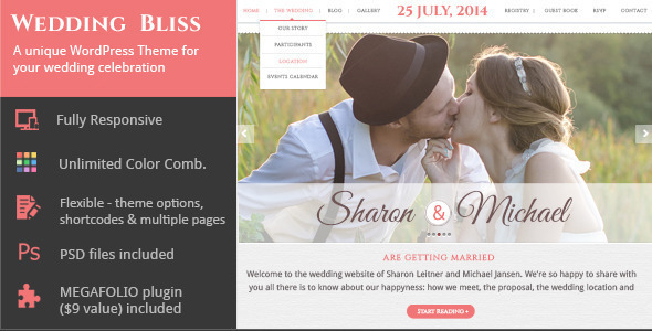15 Best Wedding Website WordPress Themes
