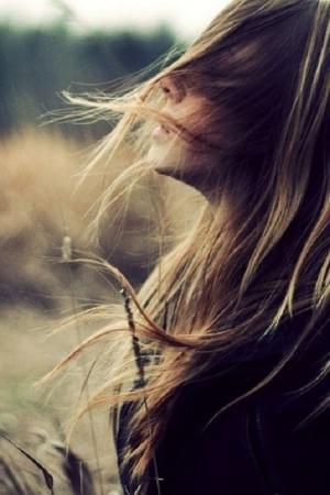 Wind in hair