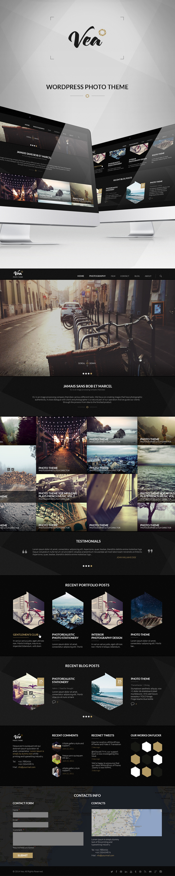 WP PHOTO THEME  on Behance