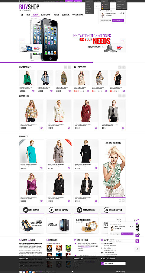 BuyShop is a premium, real transformer WordPress WooCommerce theme. It will allow you to create ...