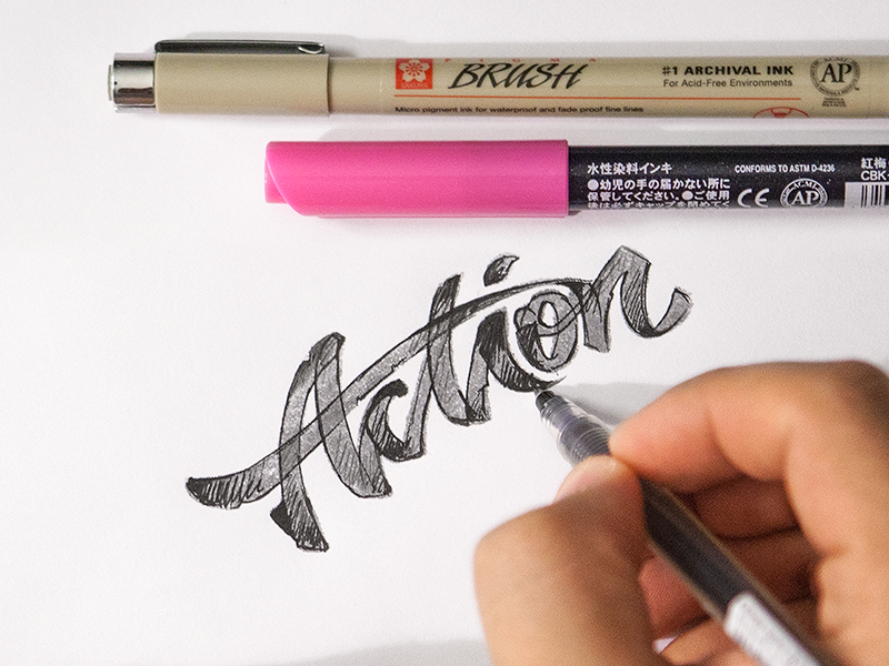 Action | Hand Lettering