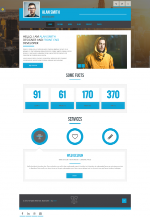 V-king is a fully Responsive, Flat, Minimalist, Professional & Multipurpose v Card template  ...