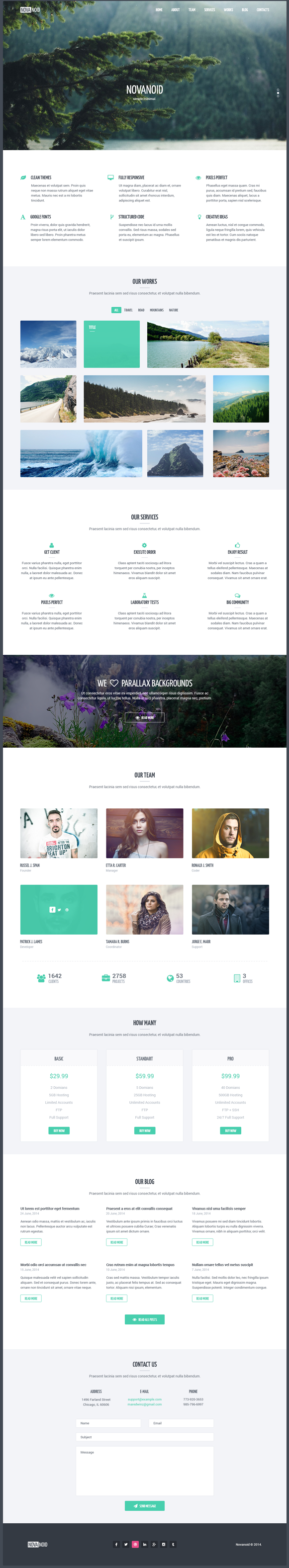 Novanoid – it's simple one page HTML template based on #Bootstrap 3. Package include 2 #HTML pag ...