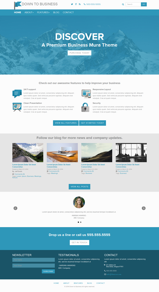 Down to Business is a Premium Mura CMS Theme. These theme is fully responsive built With Bootstr ...