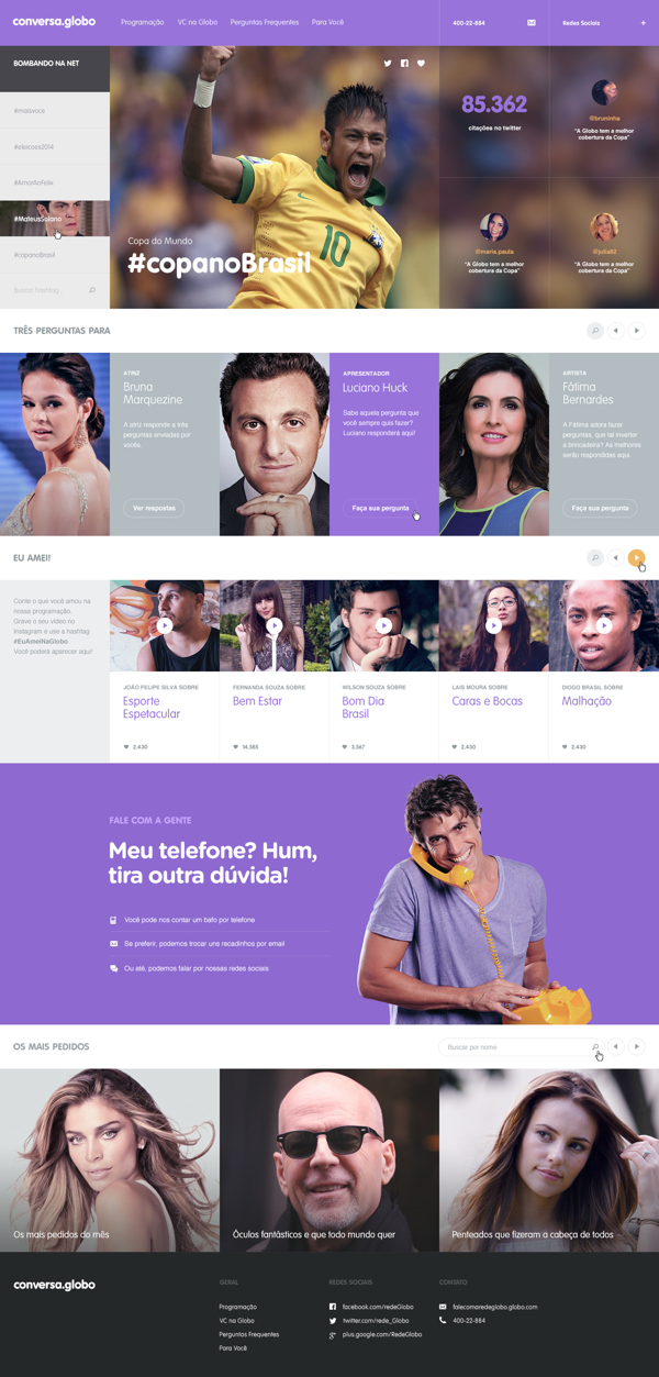 Conversa.Globo on Web Design Served