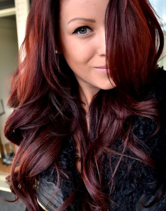 Dark Red Brown !!! Love Hair ❤
