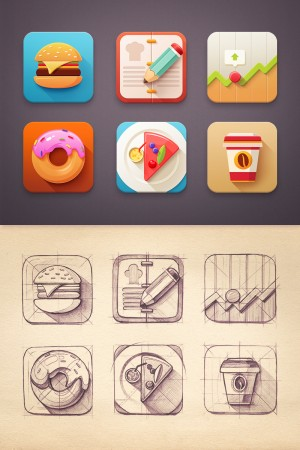 Flat Icon set by Mike