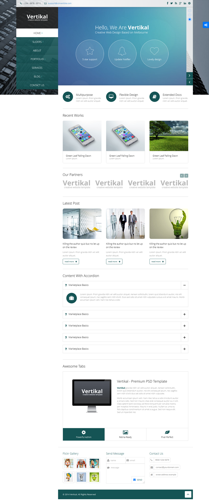 Vertikal is a minimal yet creative Multipurpose Drupal Theme with full responsive layout and Ret ...