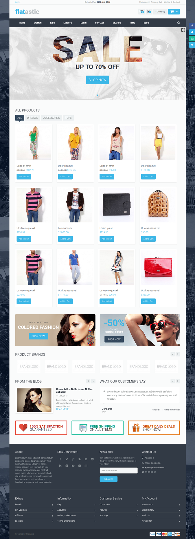 Flatastic premium responsive retina-ready multipurpose OpenCart theme.It was developed accord ...