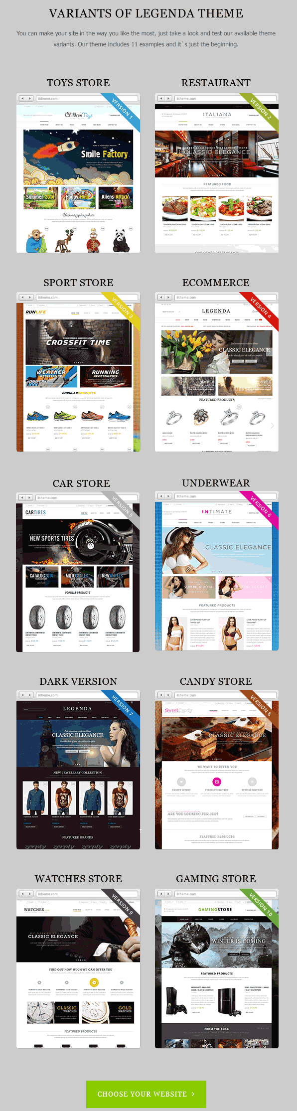 Legenda is a Premium Responsive Magento theme with advanced admin module. It's extremely customi ...