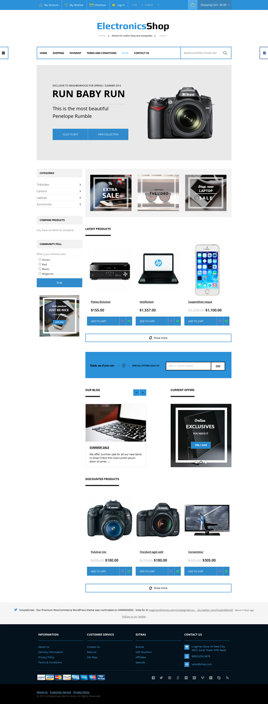 GreatShop is a universal flat multipurpose 100% responsive Magento theme, that suitable for any  ...