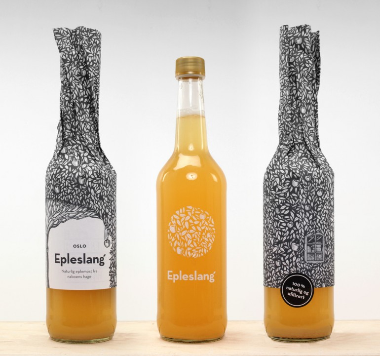 Epleslang Apple Juice — The Dieline