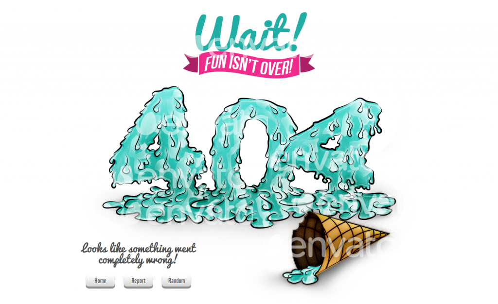 Ice Cream 404 Page is funny and great looking summer HTML5 404 Error Page. You can choose betwee ...