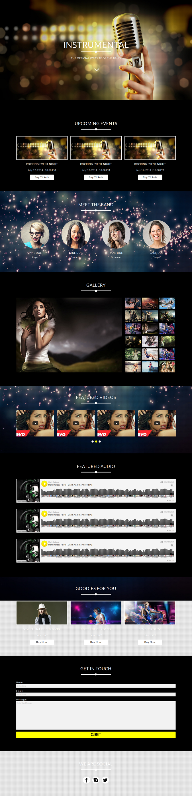 Instrumental is a Muse Template for band and music websites. It is powered by Gumroad eCommerce  ...