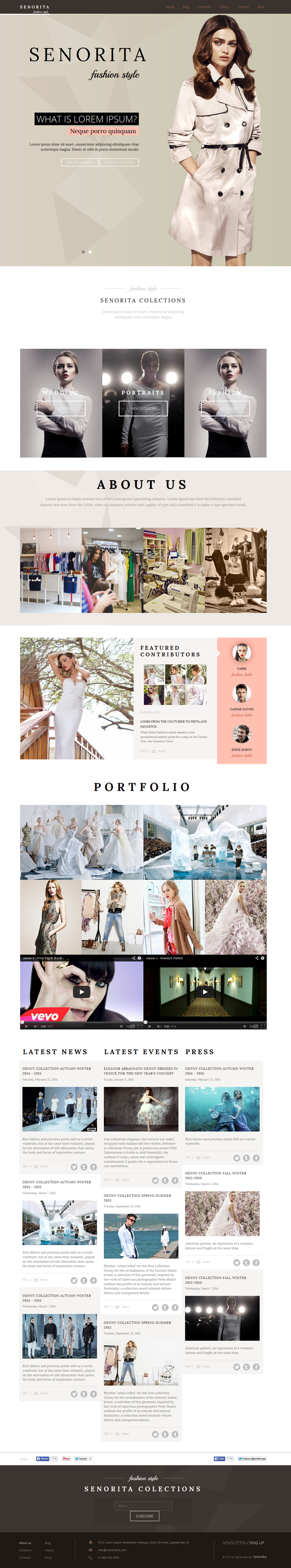 Senorita Responsive HTML Template – was designed for gossip, fashion and celebrity websites. The ...