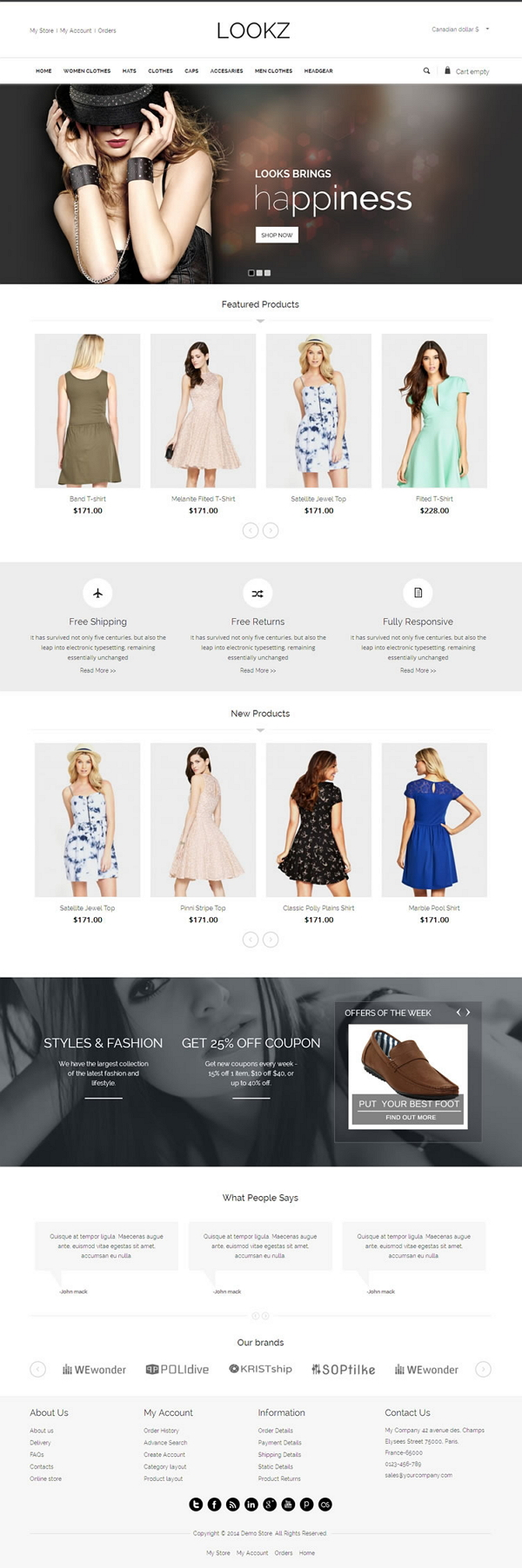 Looks VirtueMart Template is specially designed for clothes, fashion store, apparel and women&#8 ...
