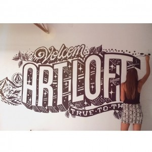 Wall mural for @volcom by the insanely talented @mrseaves101