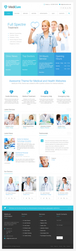 Medicure template was created to offer a perfect solution for medical websites. It features func ...