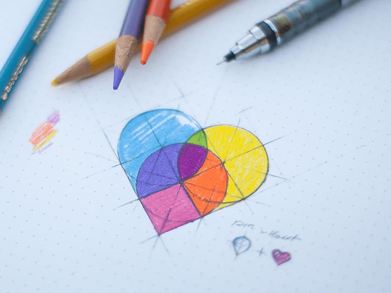 Map Pins Heart | Logo