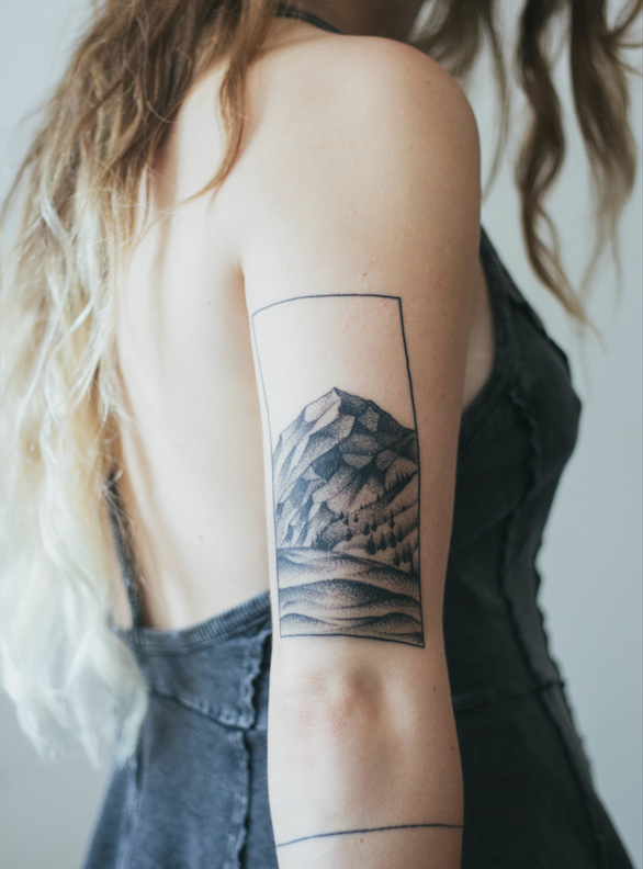 My little mountain tattoo is almost healed