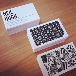 Hoorah! #neilhugh #businesscards #branding by @shelleykcox Web Instagram