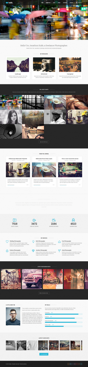 Kubb is most completed responsive photography and magazine HTML5 Template with various portfolio ...
