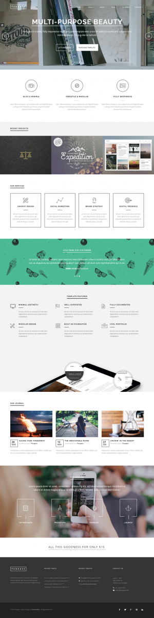 Pangaea is a sleek, multipurpose HTML template full to the brim with features. It has powerful p ...