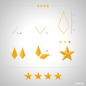 Illustrator Tip: How to Make a Beveled Star  | artill blog