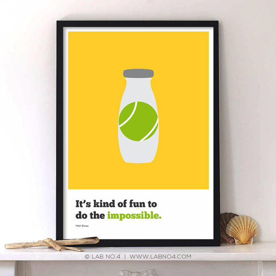 It's kind of fun to do the impossible,Inspiring corporate stratup quote poster, Walt Disne ...