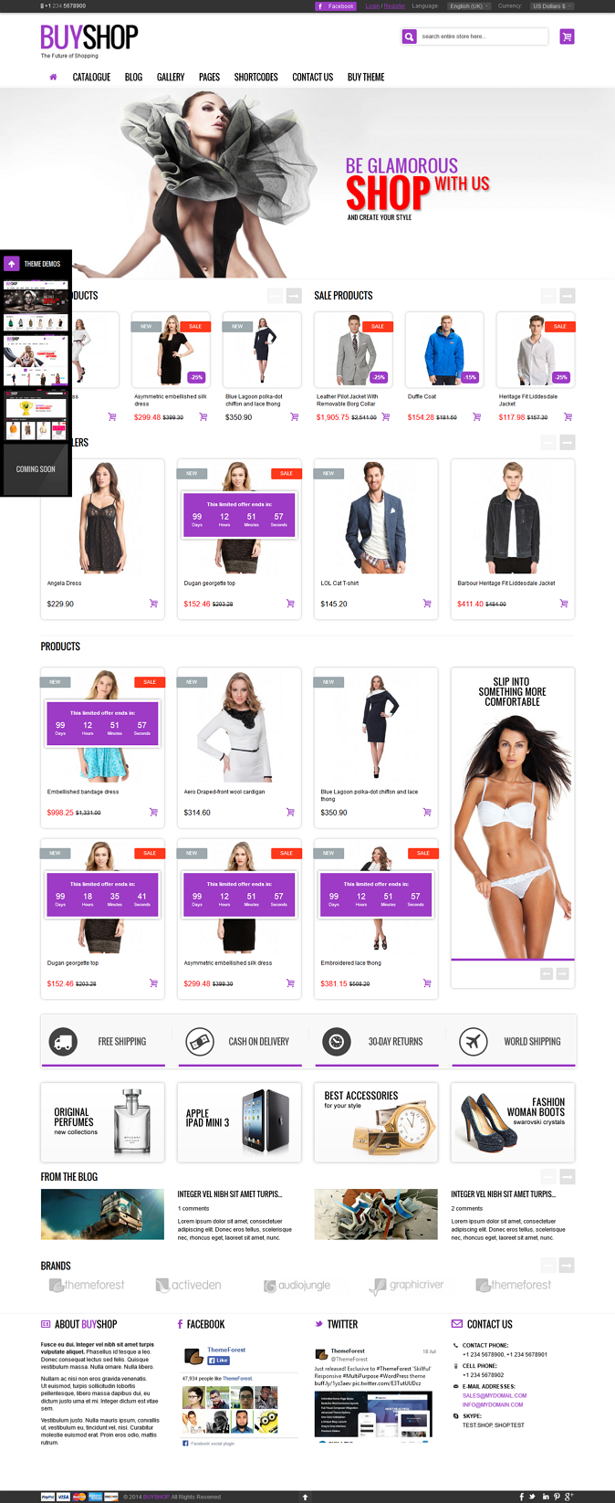 BuyShop is and Joomla Virtuemart theme. It will allow you to create structure according to your  ...