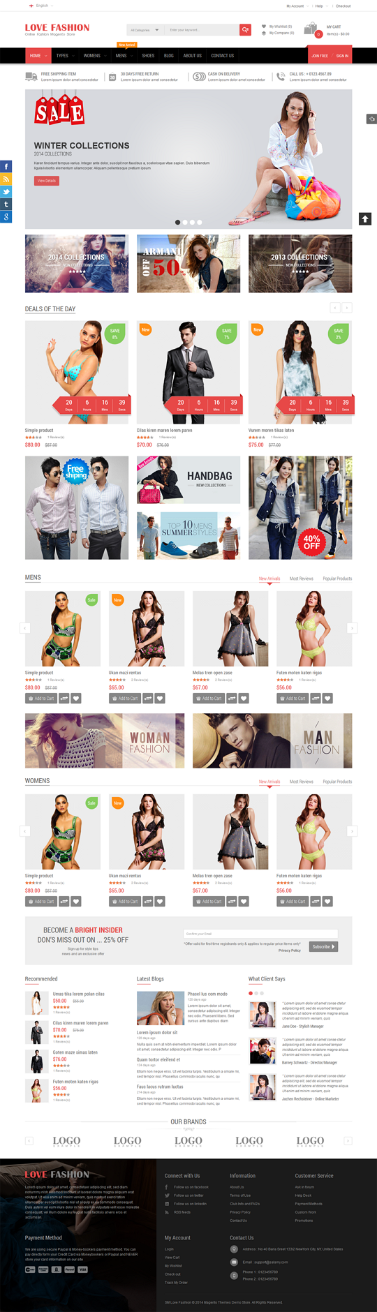 Love Fashion is a stunning boilerplate for online fashion stores, clothing store, apparel, mall  ...