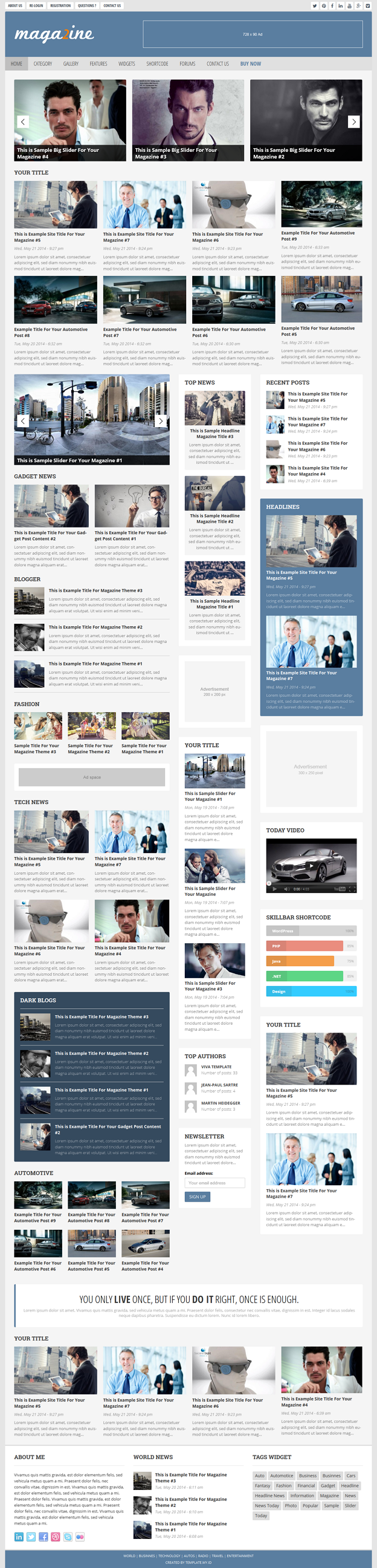 Magazine 2 theme is perfect choice for magazine, news, newspaper, WP magazine theme, editorial,  ...