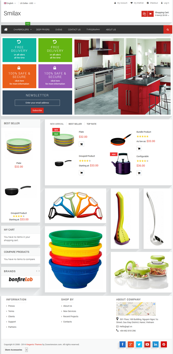 MT Smilax is fully magento theme which best suite for any store such as clothes, computer, fashi ...