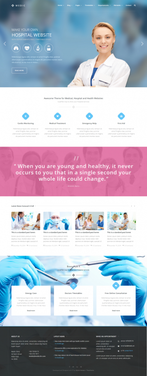 Medic is an HTML template that will help you to make a Medical, Health or Hospital website.In ...