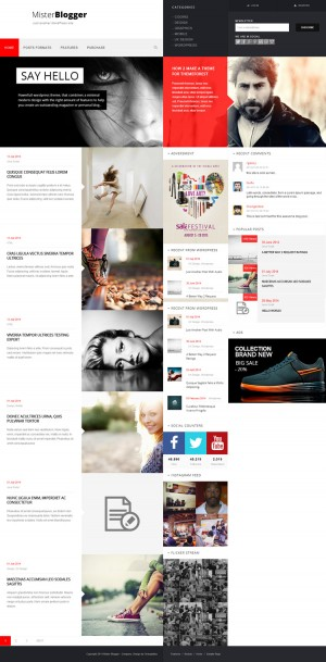 magazine, minimalist, red, block, #layout