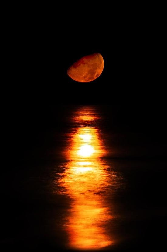 Moonset – Bradenton, Florida… | Moon Shadow | Pinterest