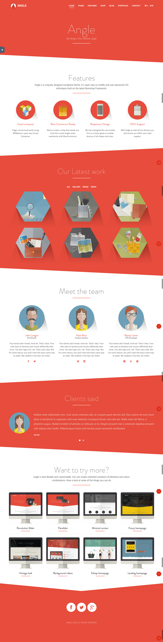 Welcome to Angle Theme, flat design from another angle. A multipurpose, ultra-flexible, fully re ...